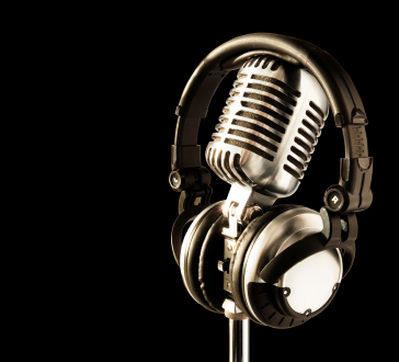 Behind the mic … tell stories